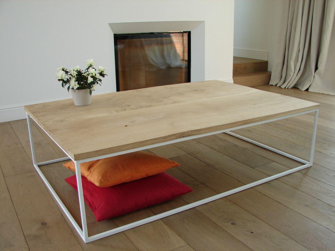 Salon Tafel Wit : Salontafel eik wit framework raveli design huis