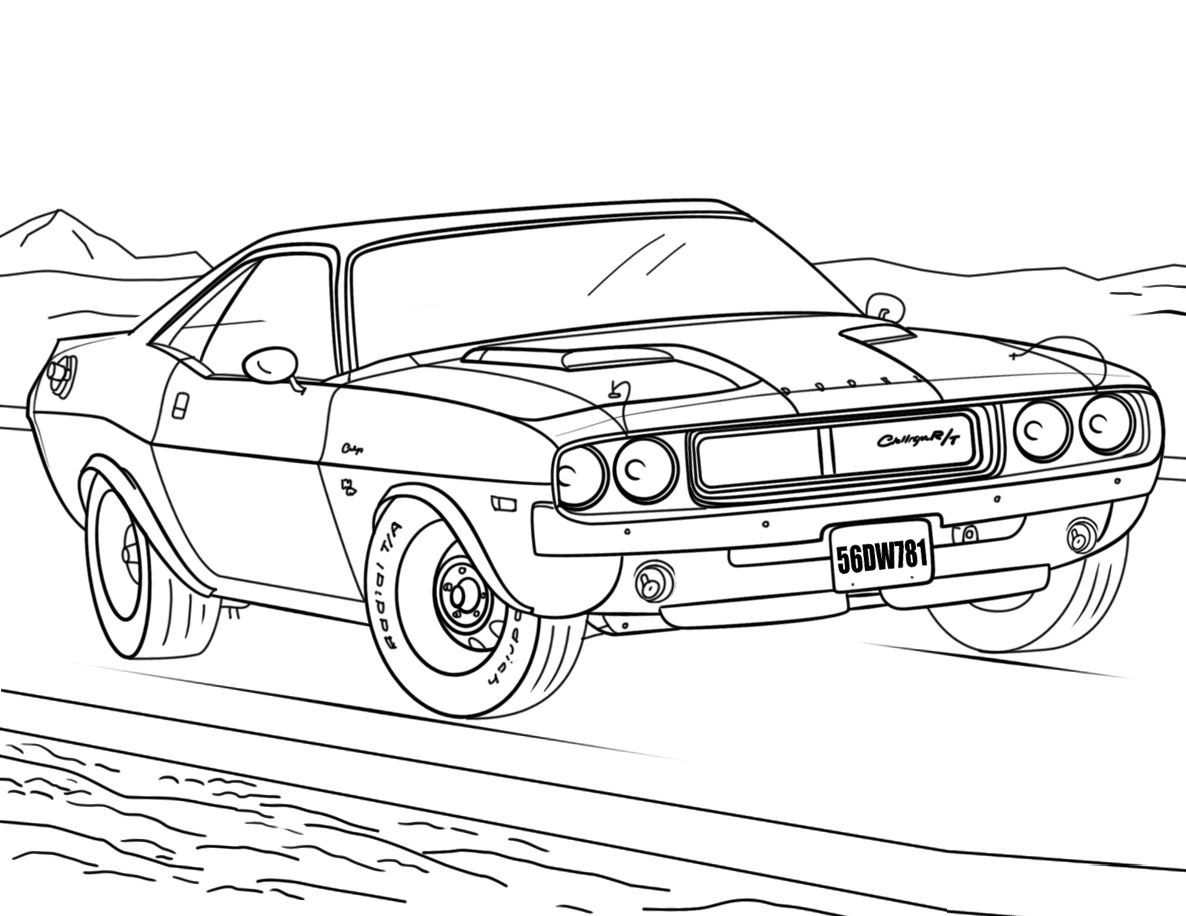 Mopar Coloring Book Dodge Challenger Cars Coloring Pages