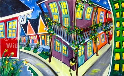 Stroll through NOLA II and III @ painting with a twist $45