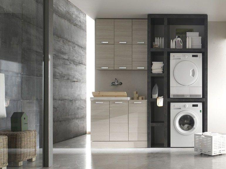 Bagno Lavanderia Piccolo : Mobile lavanderia componibile w d composizione by arcom