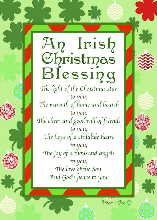 an irish christmas prayer wwwvitaminseadesigncom