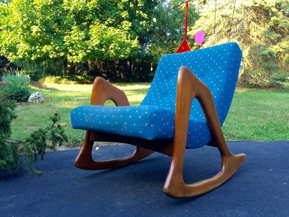 Goor Price Bad Upholstery Adrian Pearsall Rocking Chair