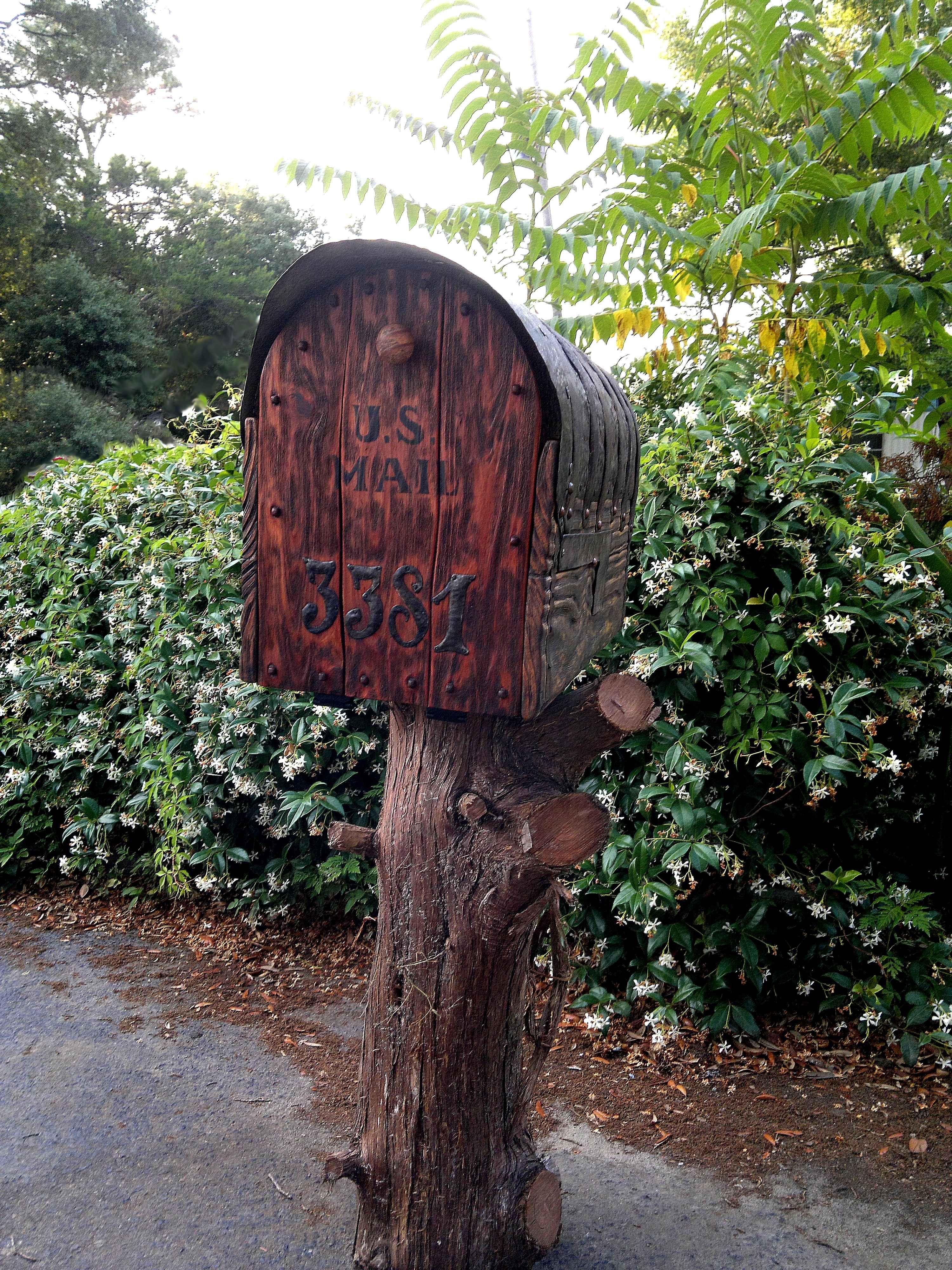 Rustic cedar mailbox Rustic mailboxes, Mailbox