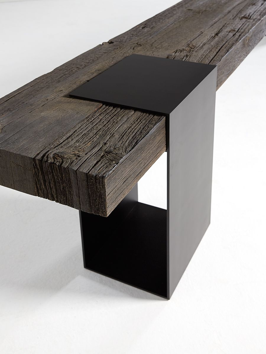 Harkavy furniture focuses on modern pieces made of wood and steel - Barn In The City Crafted By Nature Luxury By Design