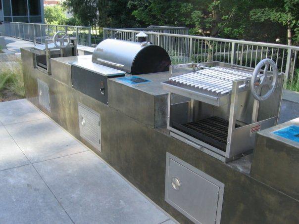 Https Www Google Com Search Q Built In Traeger Smoker Outdoor Living Kitchen Outdoor Kitchen Outdoor Bbq