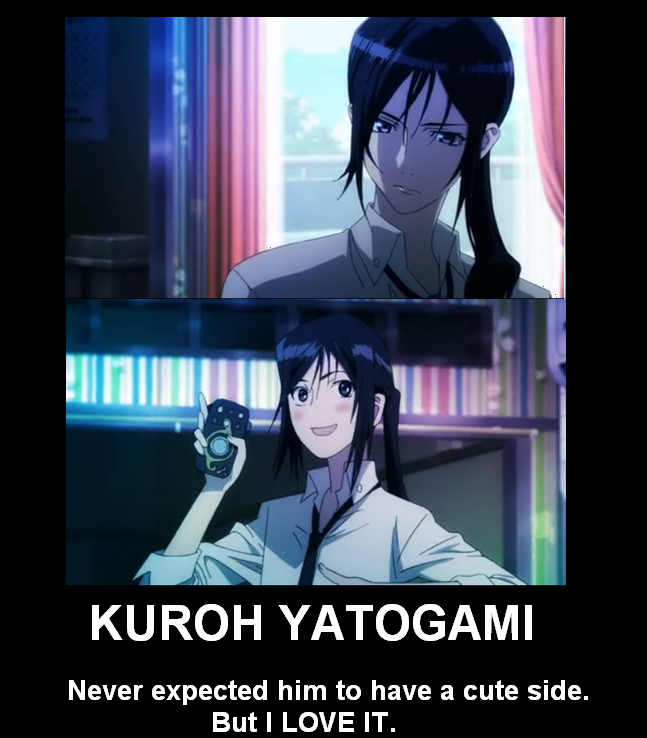 K Project ~~~ The Black Dog, Kuroh , still listens to his old master's advice. Kinda creepy, but....