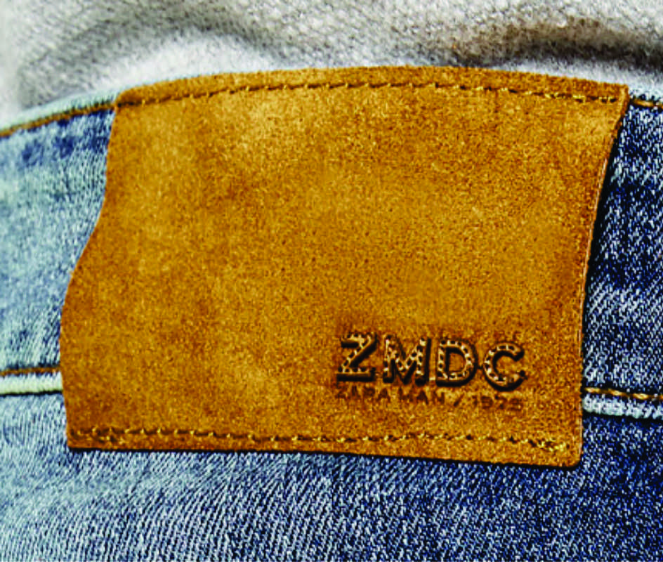 etiqueta de cintura para jeans Zara Man.