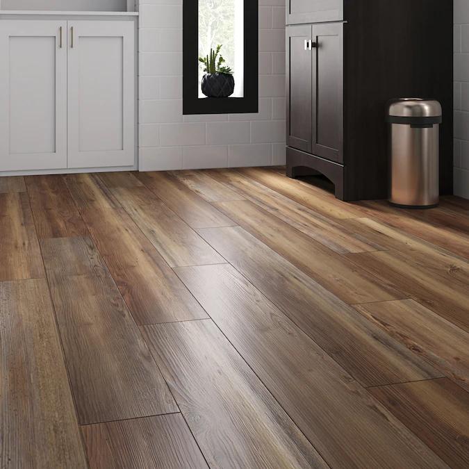 SMARTCORE Ultra 8 Piece 5 91 in x 48 03 in Blue Ridge Pine Luxury Locking Vinyl Plank Flooring in Brown