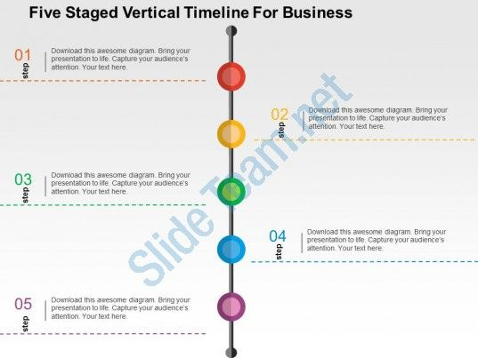 Five staged vertical timeline for business flat powerpoint design five staged vertical timeline for business flat powerpoint design toneelgroepblik Image collections