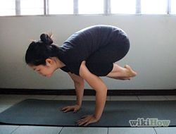 how to do the crow pose yoga 10 steps  wikihow  yoga