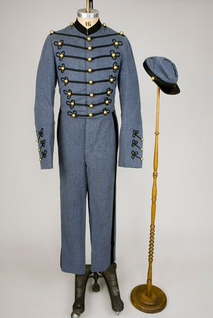 Three-Piece Military Uniform, America, 1860s.