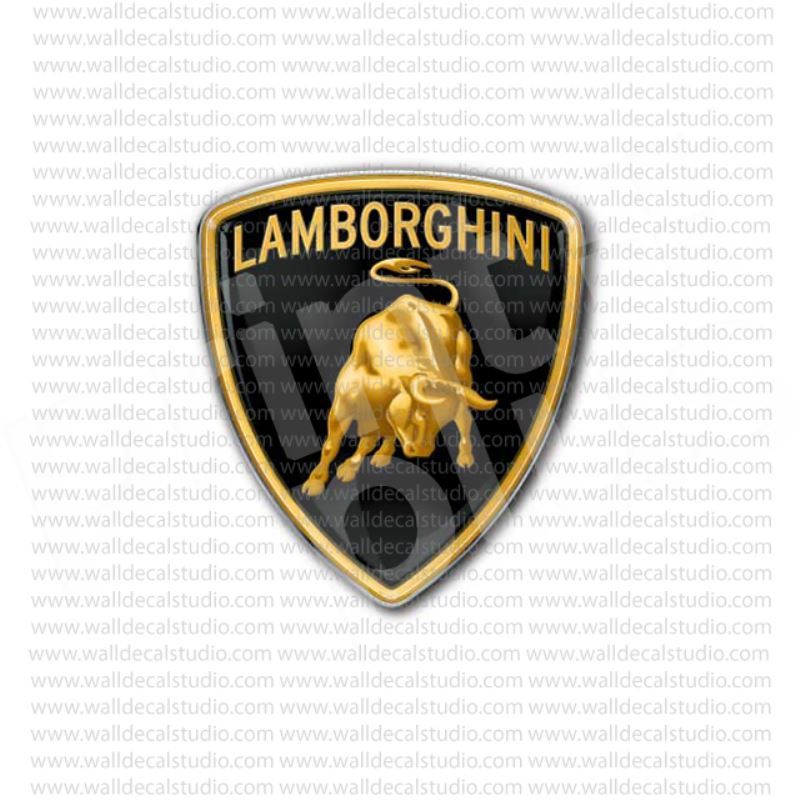 Lamborghini Italian Sport Cars Emblem Sticker Stickers