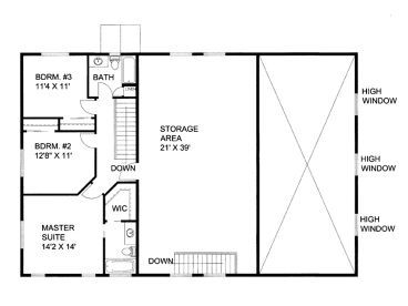 Rv garage apartment 012g 0052 2nd floor plan camper rv for Plans for shop with living quarters