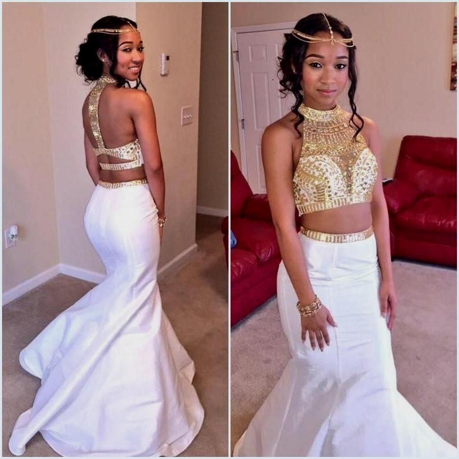 Prom Dresses White And Gold Two Piece 2 Piece Gold And White Prom Dresses Naf Dresses White Prom Dress Mermaid Dresses White Prom Dress [ 900 x 900 Pixel ]