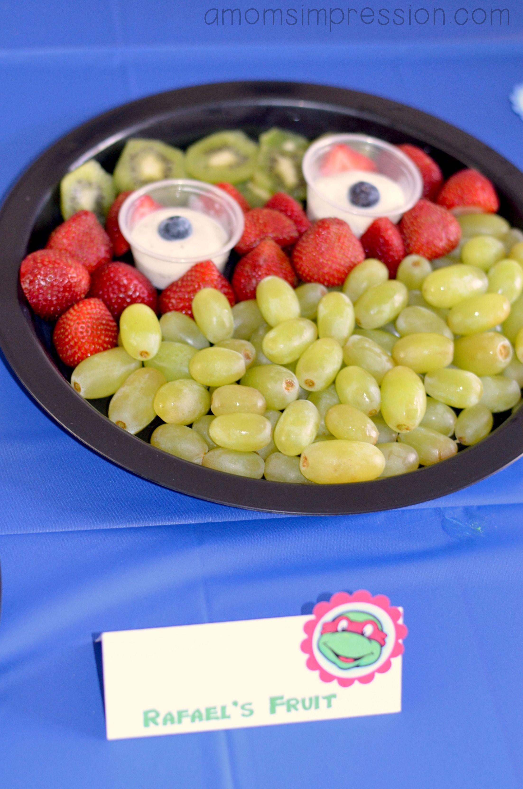 Teenage Mutant Ninja Turtles Birthday Party Food Ideas You Won T Believe All The Creati Ninja Turtles Birthday Party Tmnt Birthday Party Ideas Tmnt Party Food