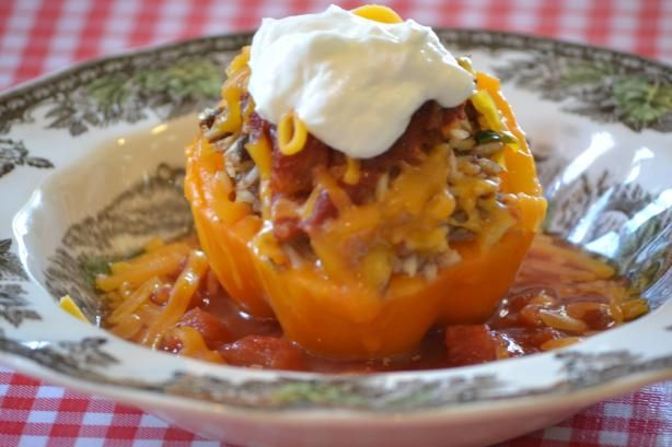Southwest stuffed peppers- add corn and black beans