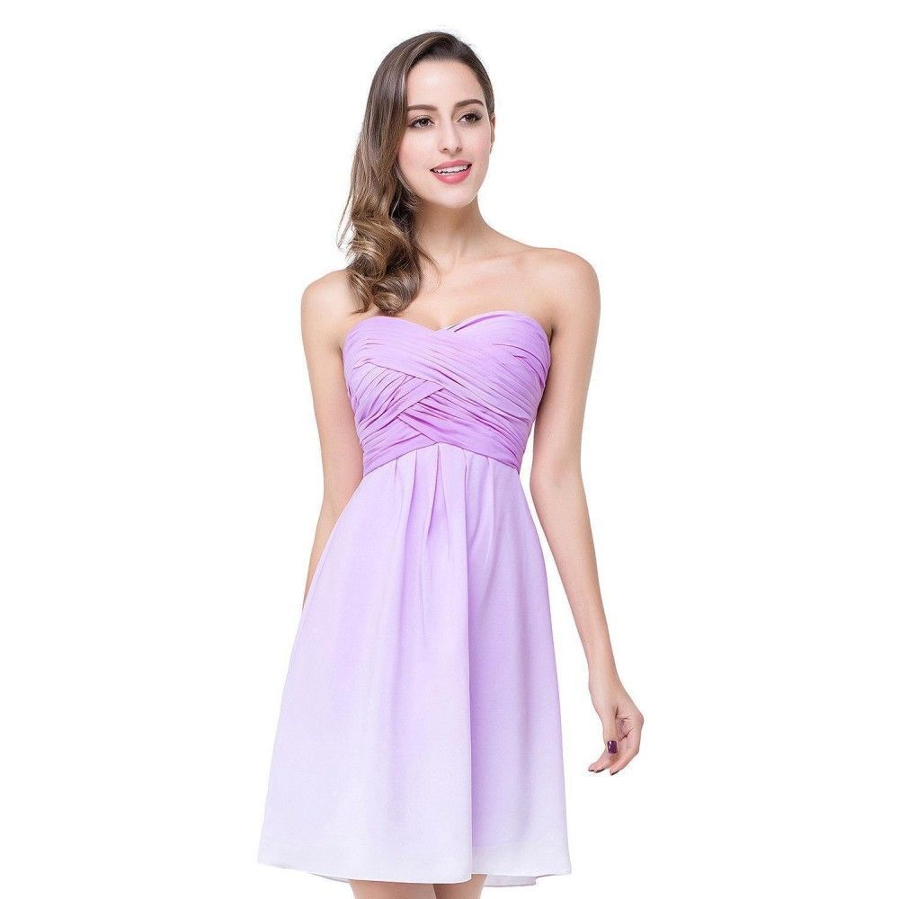 Bridesmaid Dresses Robe Demoiselle D'honneur Chiffon Short Sexy Backless Sweetheart Neck #chiffonshorts