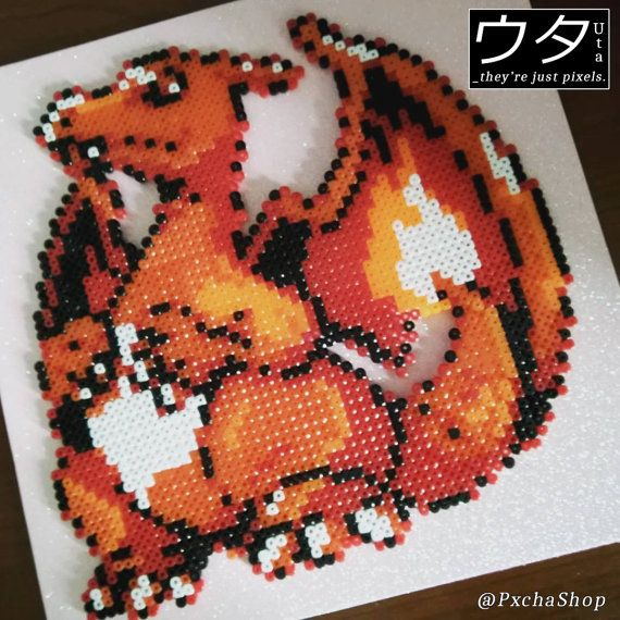 Pokemon Pixel Art Charizard Perler Beads Gamer