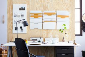 Usporiadajte vaše pracovisko pomocou úložných dielov