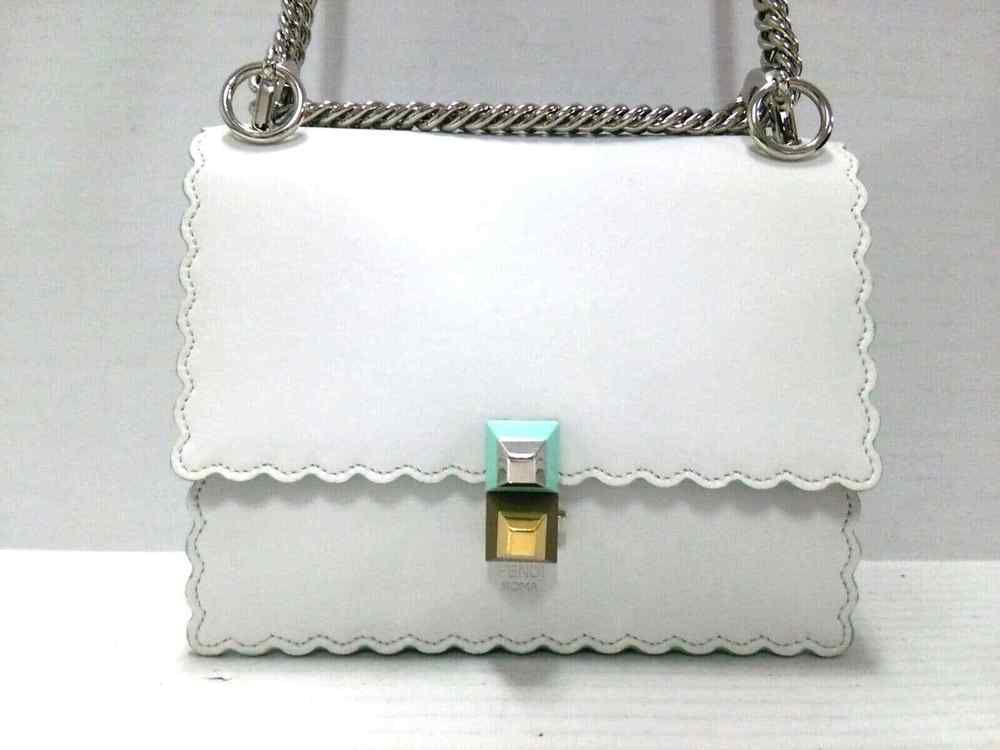 832c7f359c Auth FENDI Mini Kan I White LightGreen Leather Shoulder Bag  fashion   clothing  shoes  accessories  womensbagshandbags (ebay link)