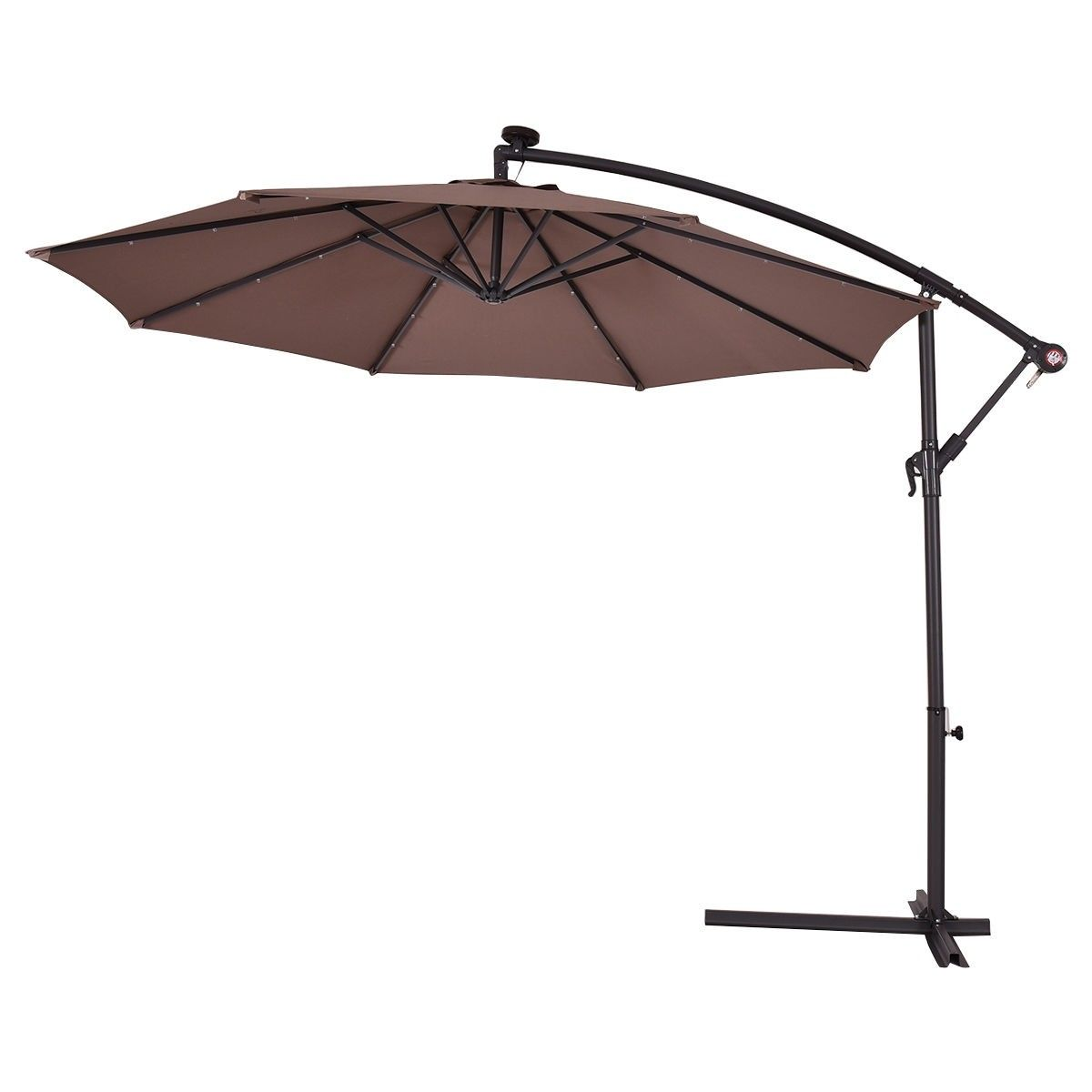 10 Patio Hanging Umbrella Sun Shade With Solar Led Lights Patio Solar Led Lights Cantilever Umbrella