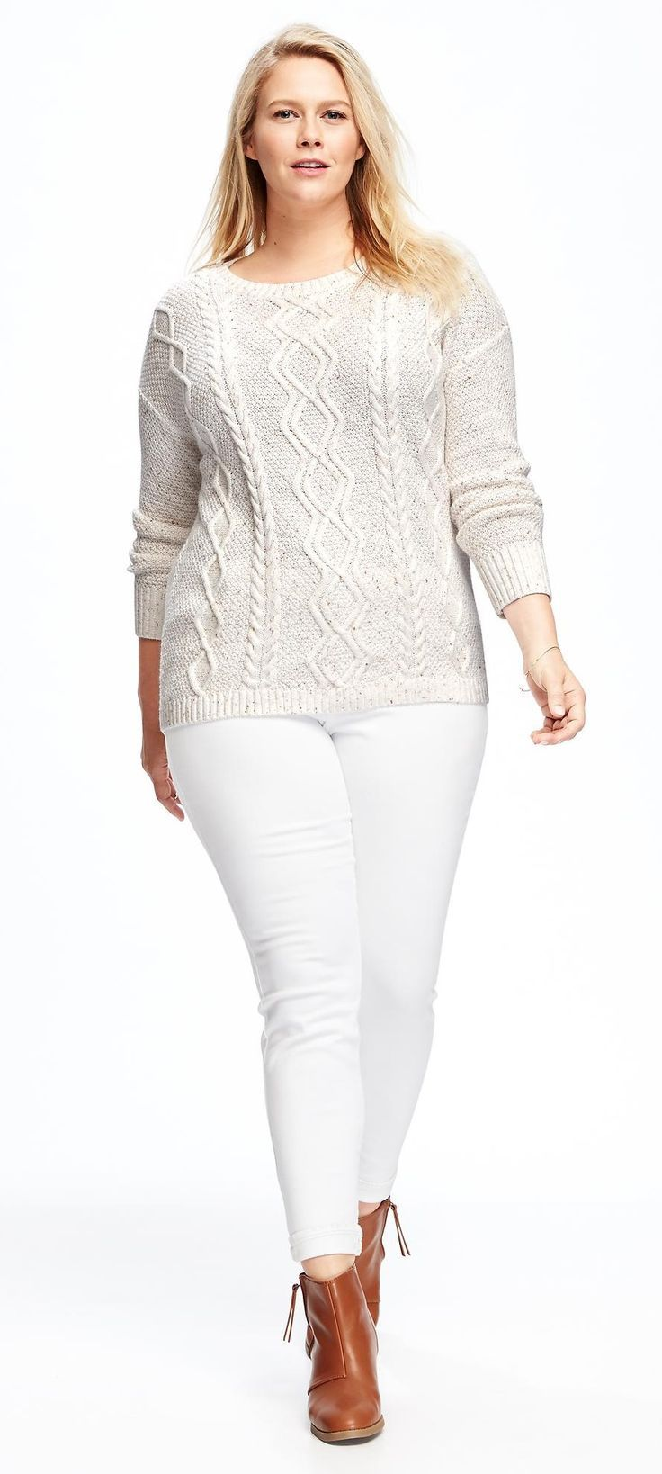 Plus Size Cable Knit Sweater Plus Size Fashion Pinterest Cable