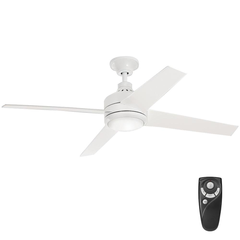 Home Decorators Collection Mercer 52 In Led Indoor Distressed Koa Ceiling Fan With Light Kit And Remote Control 54728 The Home Depot White Ceiling Fan Ceiling Fan With Light Fan Light