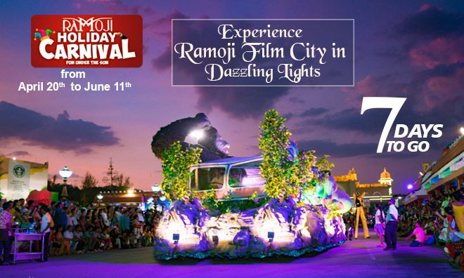 The Most Awaited Holiday Carnival Is Just 7 Days Away Book Your Tickets Soon To Experience The World S Largest Film City Live Fil Film Carnival Stage Show