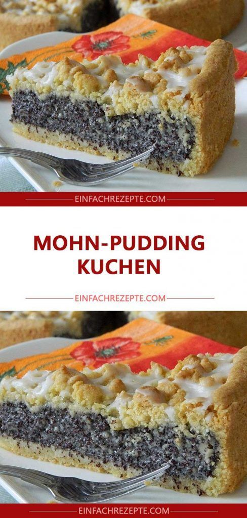 Mohn-Pudding-Kuchen😍 😍 😍