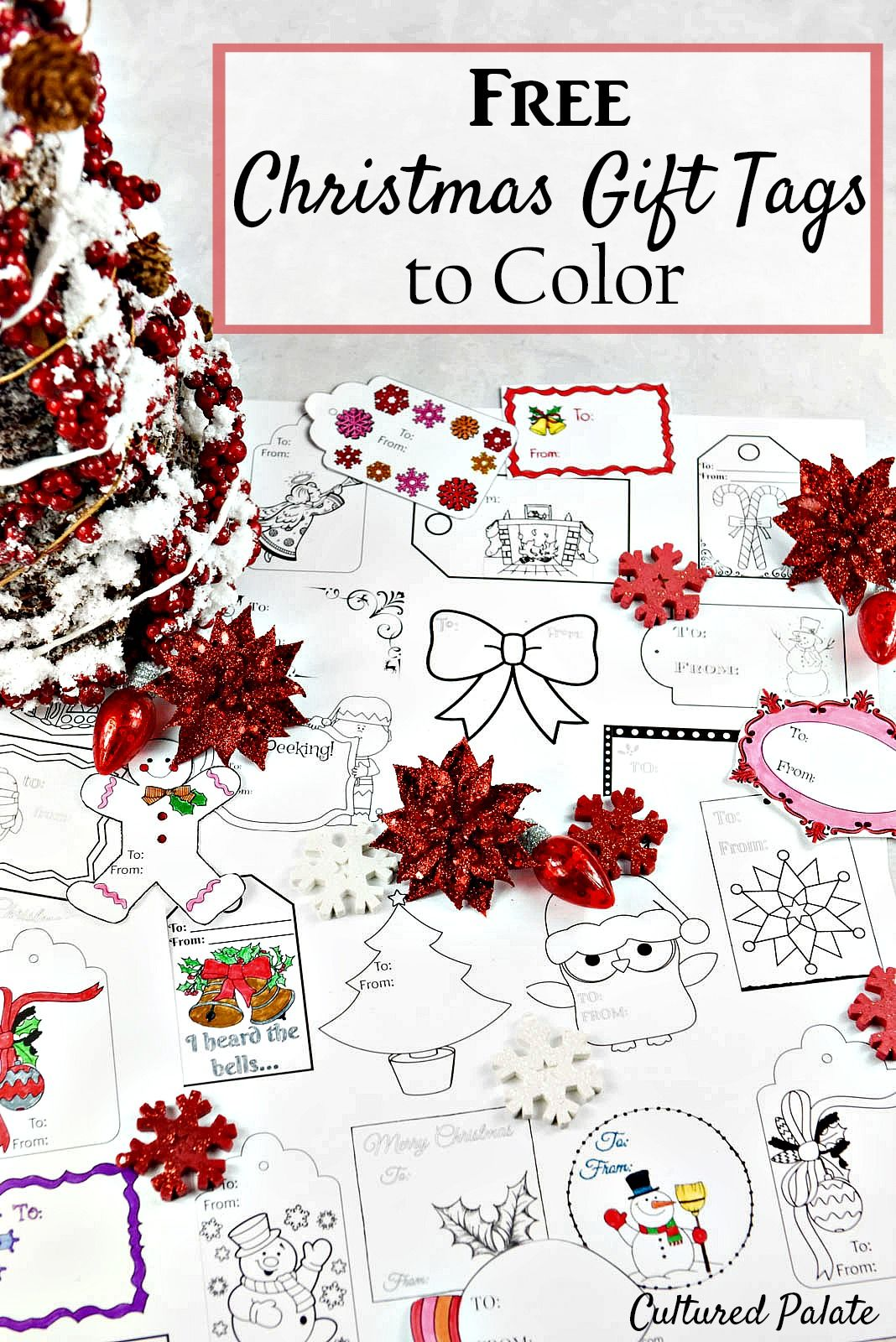 Free Christmas Gift Tags to Color | Free christmas gifts, Christmas ...