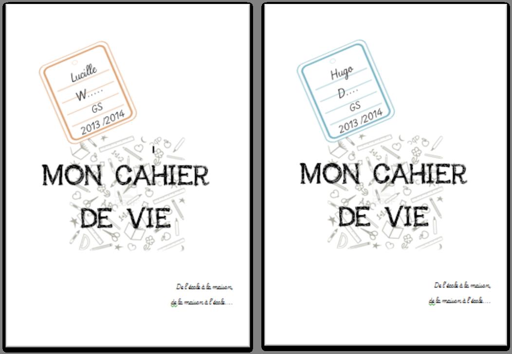 Page De Garde Cahier De Vie Gs Cahier De Vie Pages De Garde Cahiers Cahier