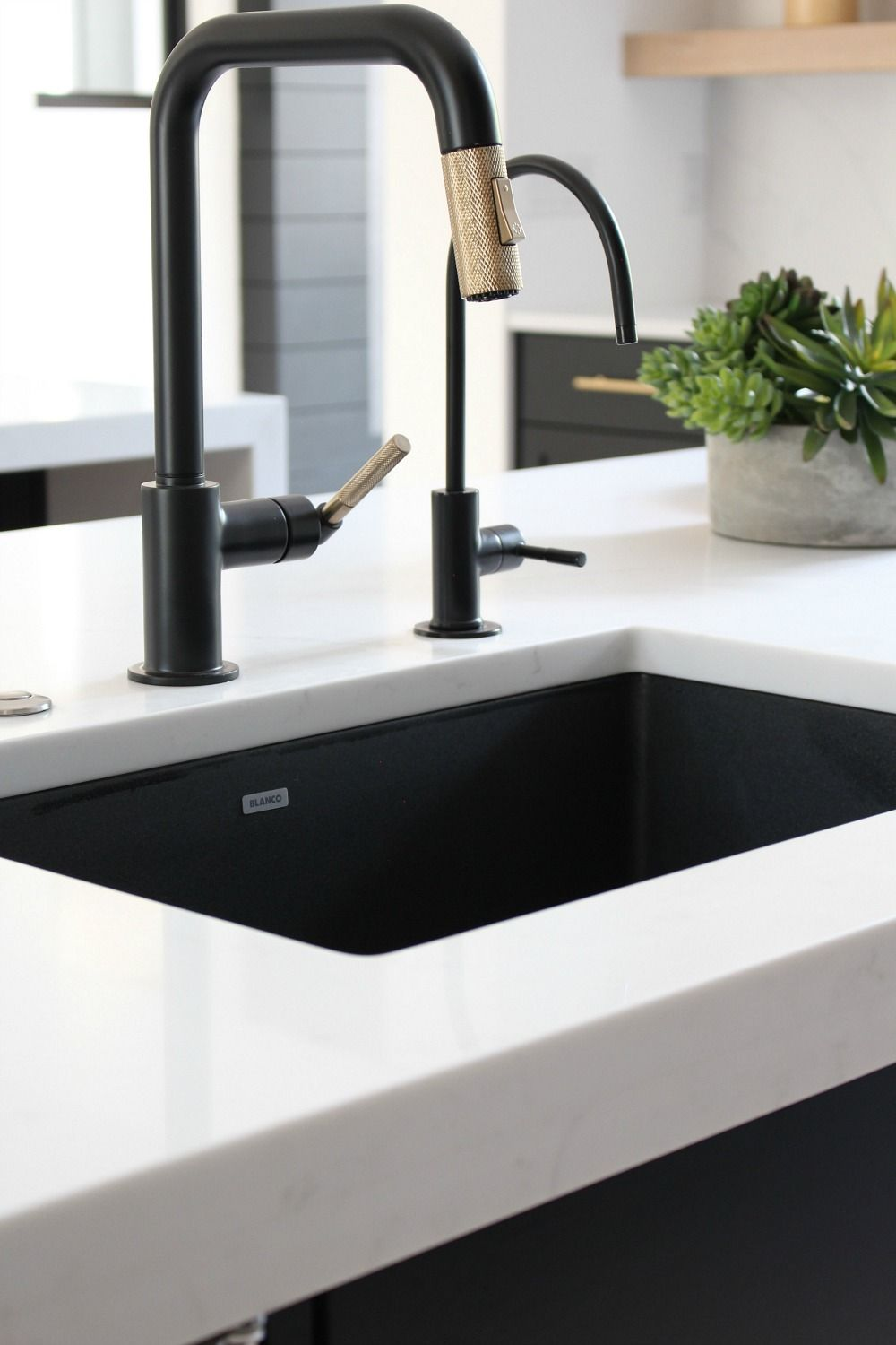 Designer and Blogger Shauna of The House of Silver Lining features BLANCO in her gorgeous home remodel | Kitchen sink design, Drop in kitchen sink, Sink design