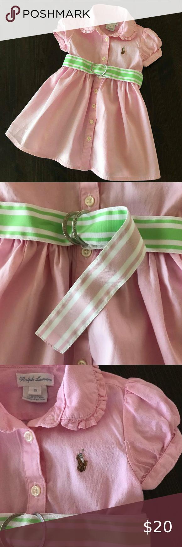 Ralph Lauren Pink Polo Shirt Dress Baby Girl Pre-owned. Never worn ...