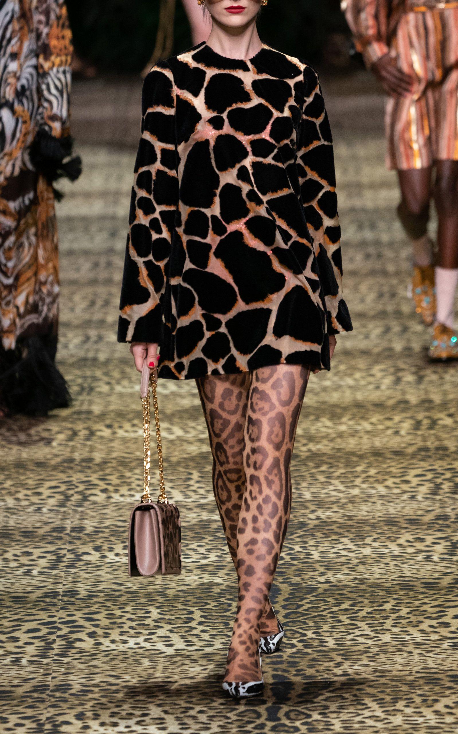 Extreme Mini Animal Print Dress By Dolce Gabbana Moda Operandi In 2020 Animal Print Dresses Dolce And Gabbana Animal Print Tights