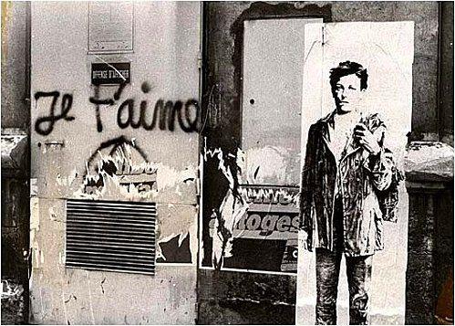 Rimbaud sérigraphié, par Ernest Pignon Ernest, Paris, 1978. (avec images) | Pignon  ernest, Les arts, Art de rue