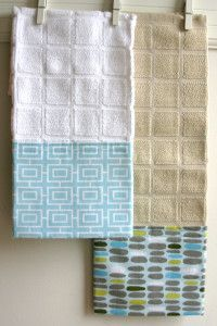 Housewarming Gifts Part 2: Embellished Dish Towels #dishtowels