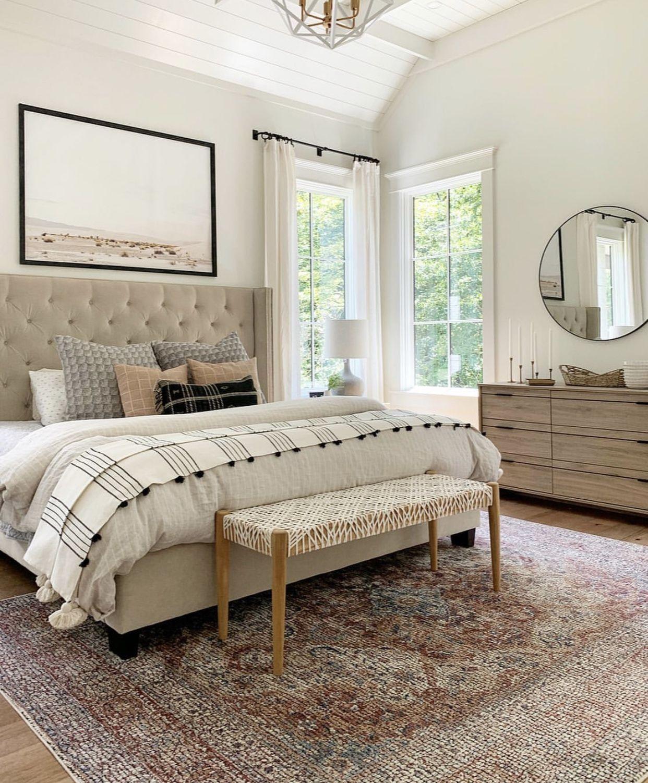 Photo of fashionable farmhouse bed room