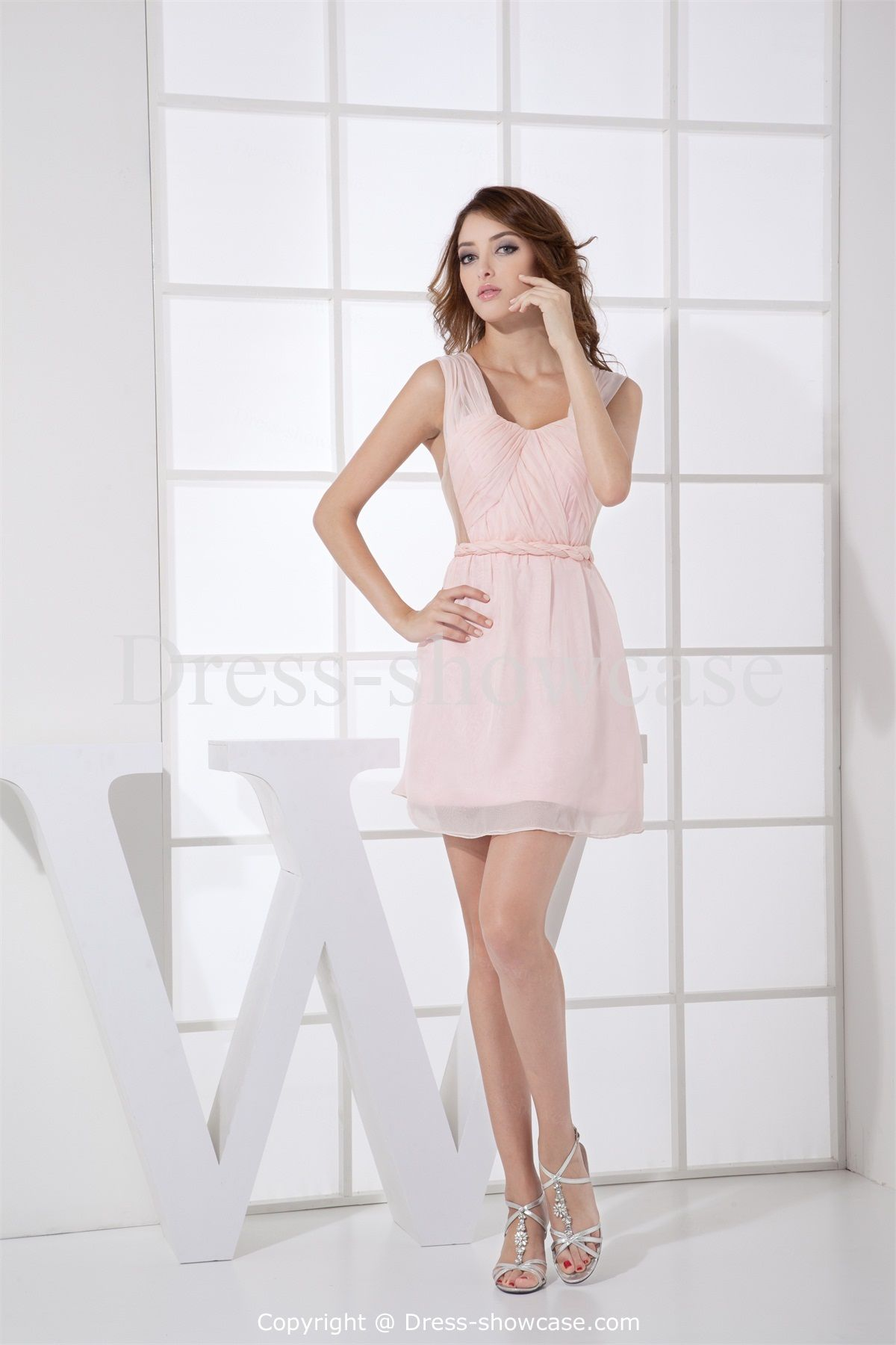 Ruffles Sleeveless Wedding Guest Light Pink Dress Whole Price Us 119 99