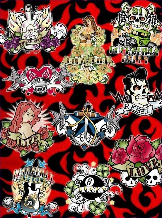 Rockabilly Tattoo Designs Tattoos Old School Tattoo Pinterest