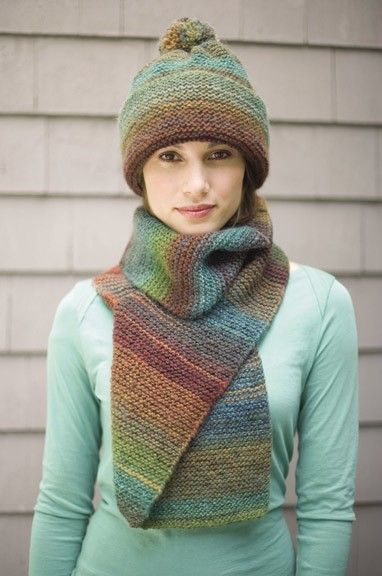 Follow This Free Knit Pattern To Create A Striking Hat And Scarf