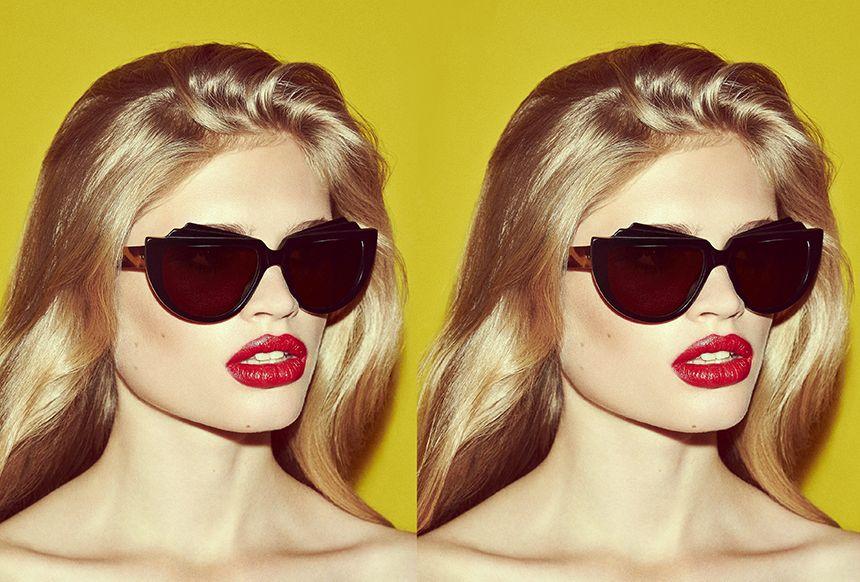 56f28630a3 Ma Jolie from ZANZAN Spring Summer 2014 campaign shot by Jon Gorrigan   zanzan  sunglasses  eyewear