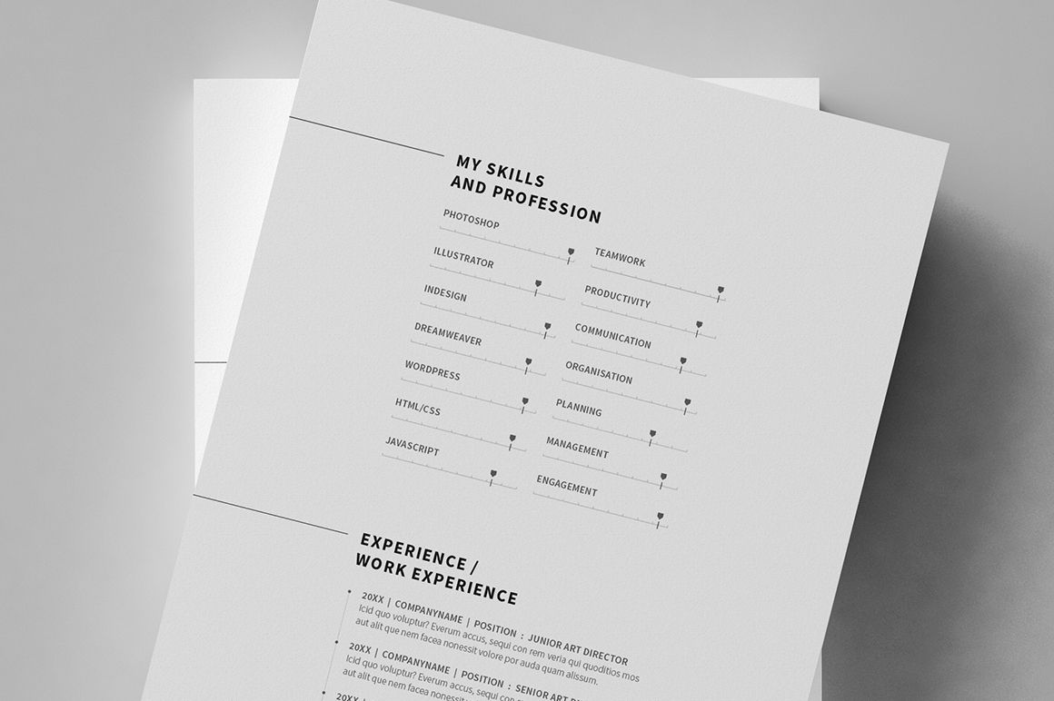Minimal Resume / CV / Curriculum Vitae / 12 Pages on Behance ...