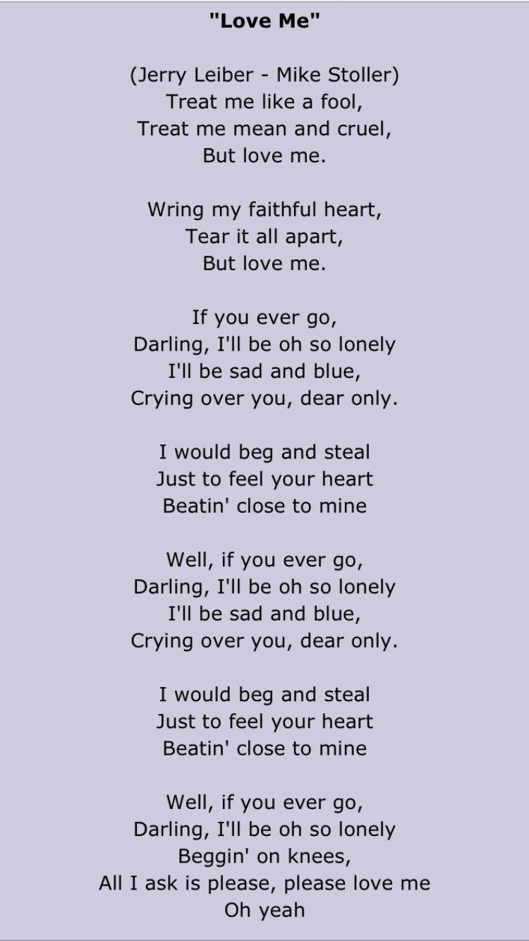 Elvis Presley Elvis Presley Lyrics Elvis Presley Songs Elvis