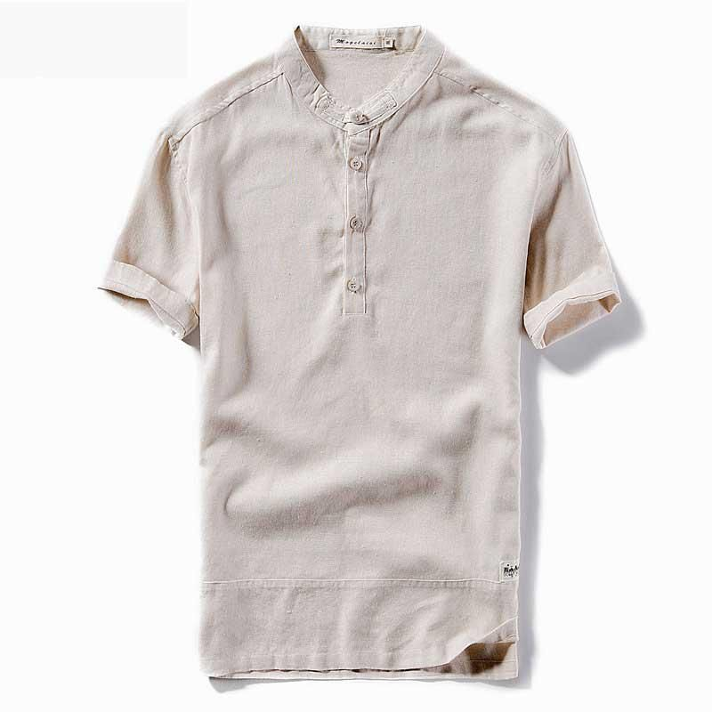 4d4d64c25 Men's T-shirt Short Sleeve Summer Linen Dress Shirt Business Solid Chemise  Homme Casual Shirts Work Wear Formal Slim Shirt 4XL. Yesterday's price: US  $28.80 ...