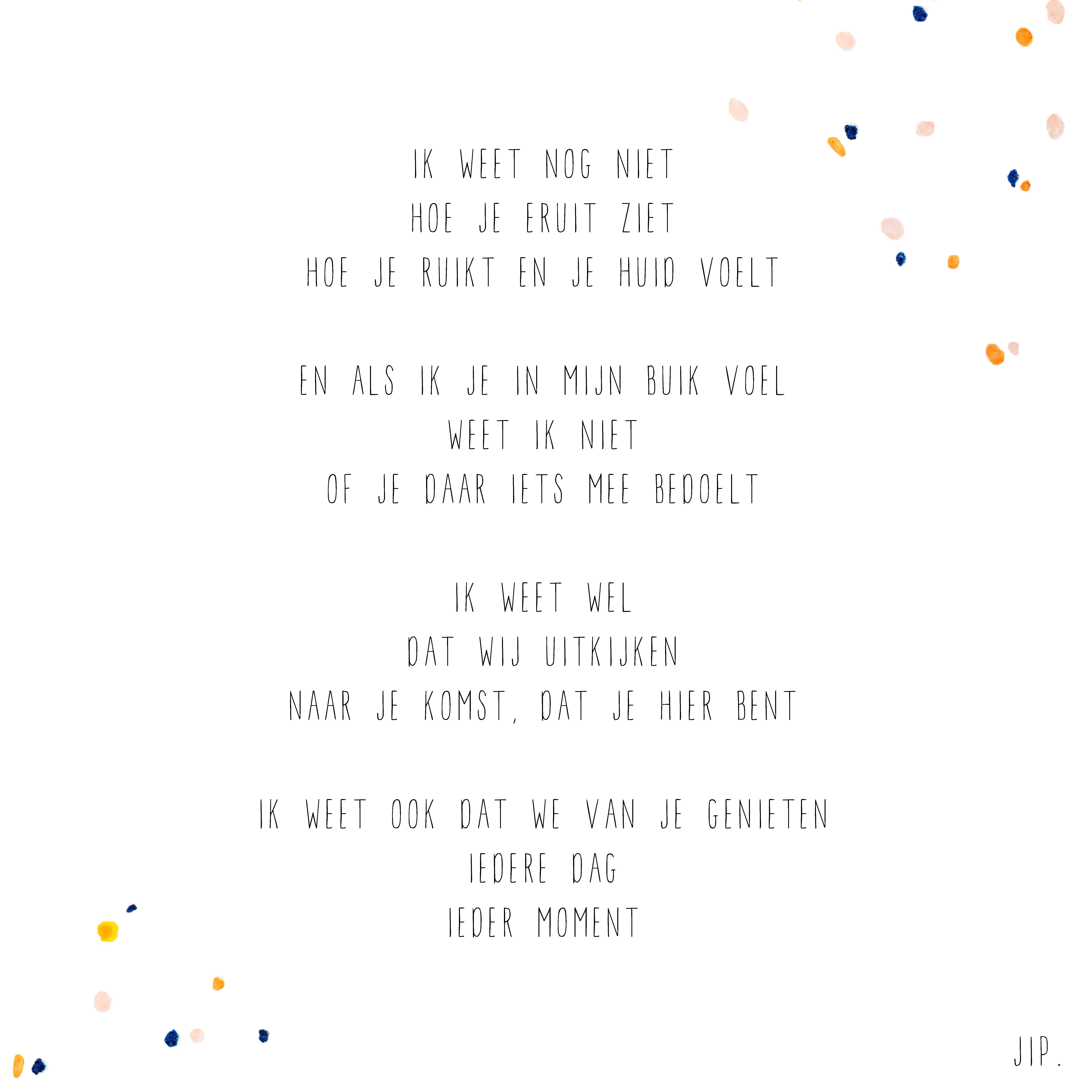 Vaak Gewoon JIP. |Gedichten | Geboorte tekstje | Baby | Geboorte &AH04