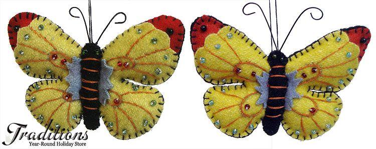 cute felt butterflies