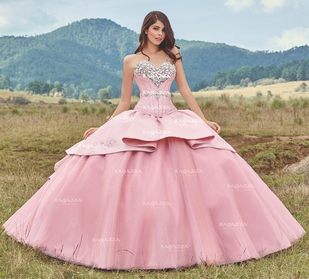 Beaded Strapless Quinceanera Dress by Ragazza Fashion Style B81-381 ...