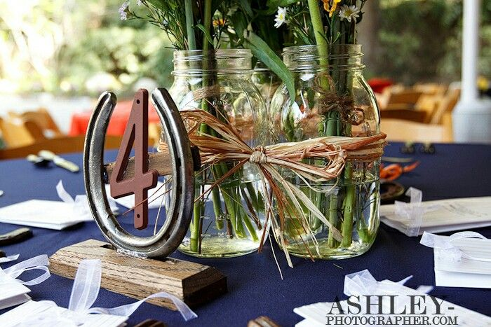 Horse Shoe Table Numbers Western Themed Wedding Wedding