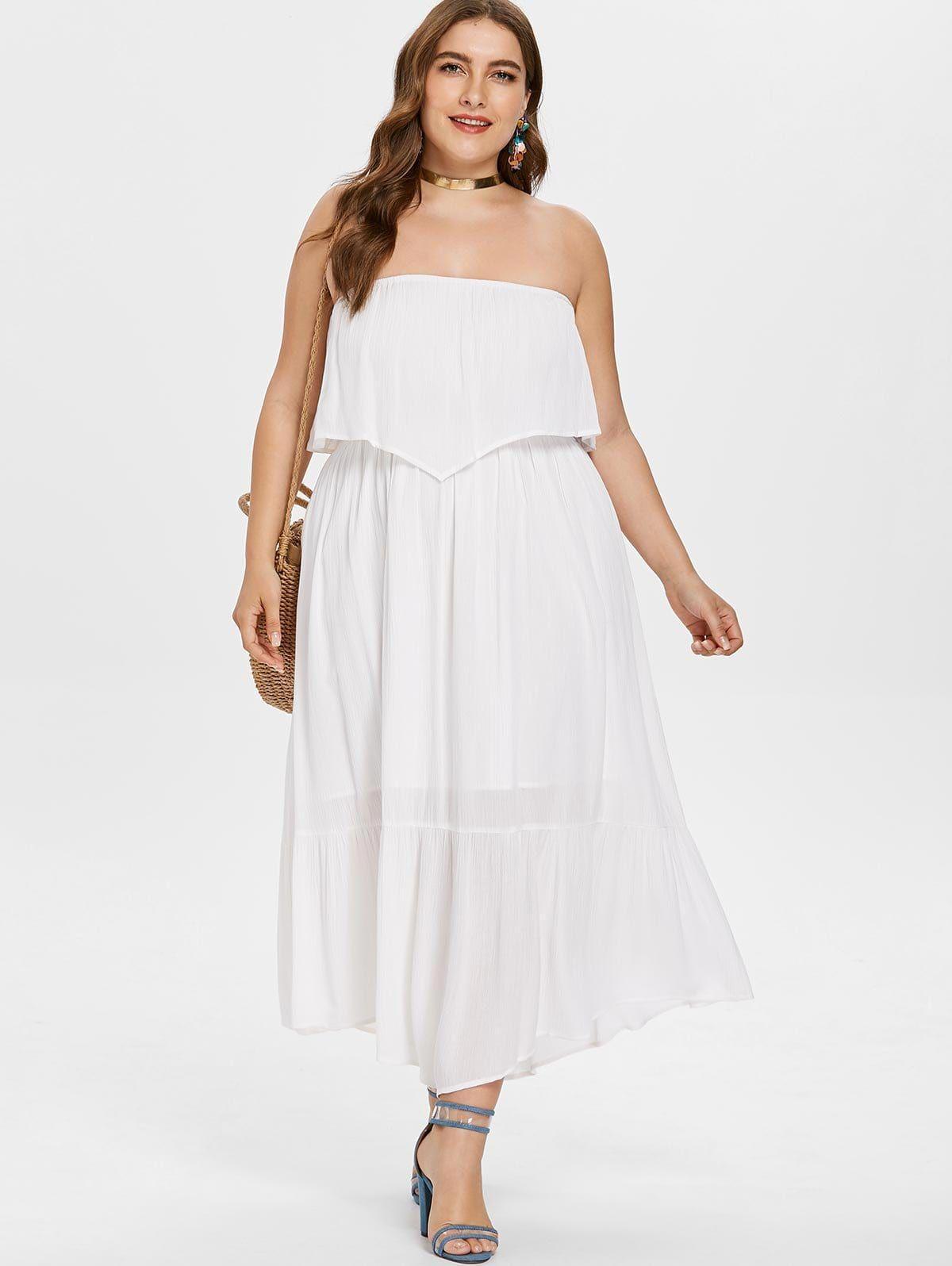 Plus size bandeau long dress in dress design pinterest