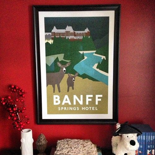 Framed Banff Springs available @vividprint #yeg #whyteave